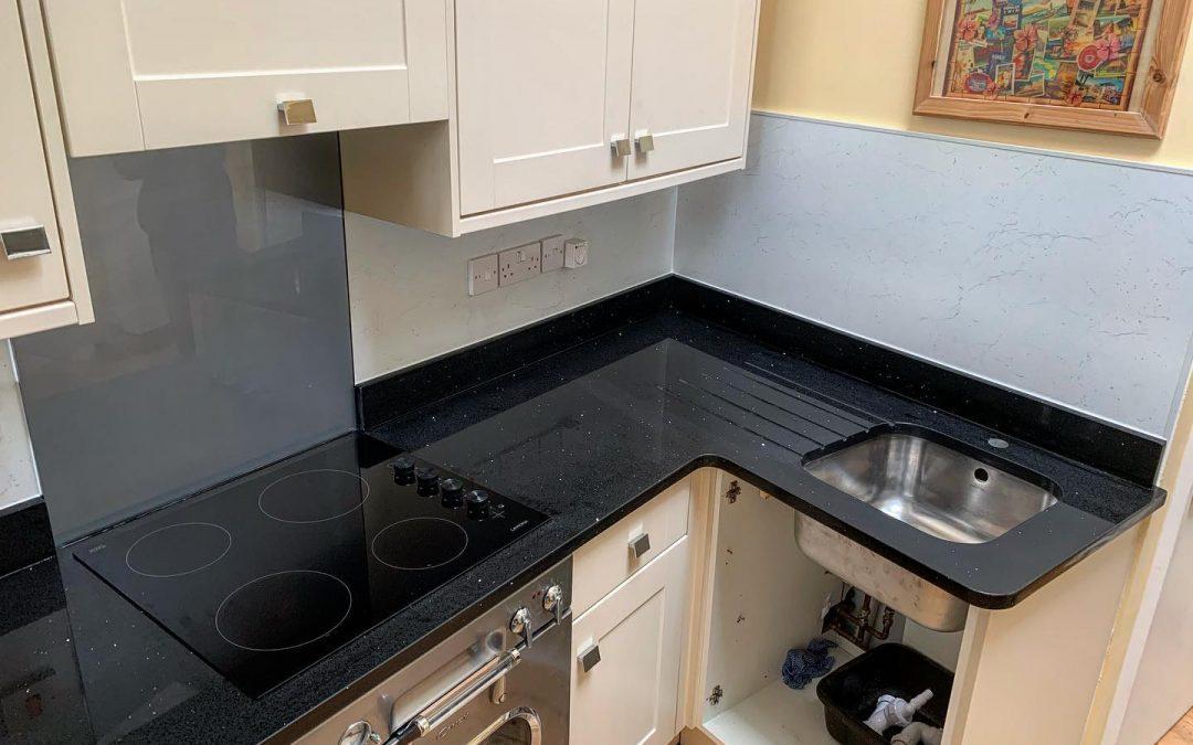 Black Mirrorlux Worktop Fitted in Lyme Regis